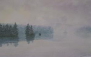 "Morning Fog the Narrows 24x38"""