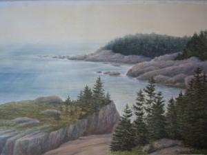"Sunrise Isle au Haut  29x39"""
