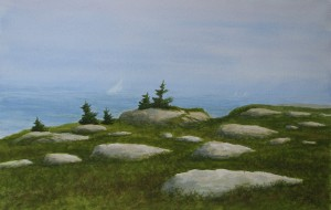 August Little Moose Island 13x21""