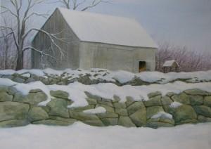"""Winter Walls   21x29"""""""