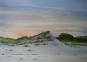 "Evening Dunes 21x29"""