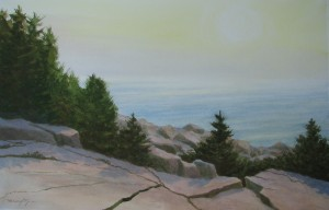 Sunrise Schoodic Point 13x21""