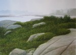 Fog Cranberry Point 21x29""