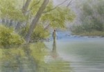 """Stalking Spring Trout  9,5x13.5"""""""